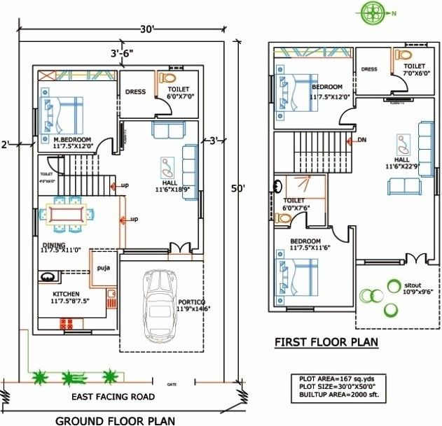 1400 Sqduare Foot House Plans Fresh 1400 Sq Ft House Plans In India Luxury 1500 Sq Ft Floor Plans Of 1400 20x30 House Plans Indian House Plans 2bhk House Plan