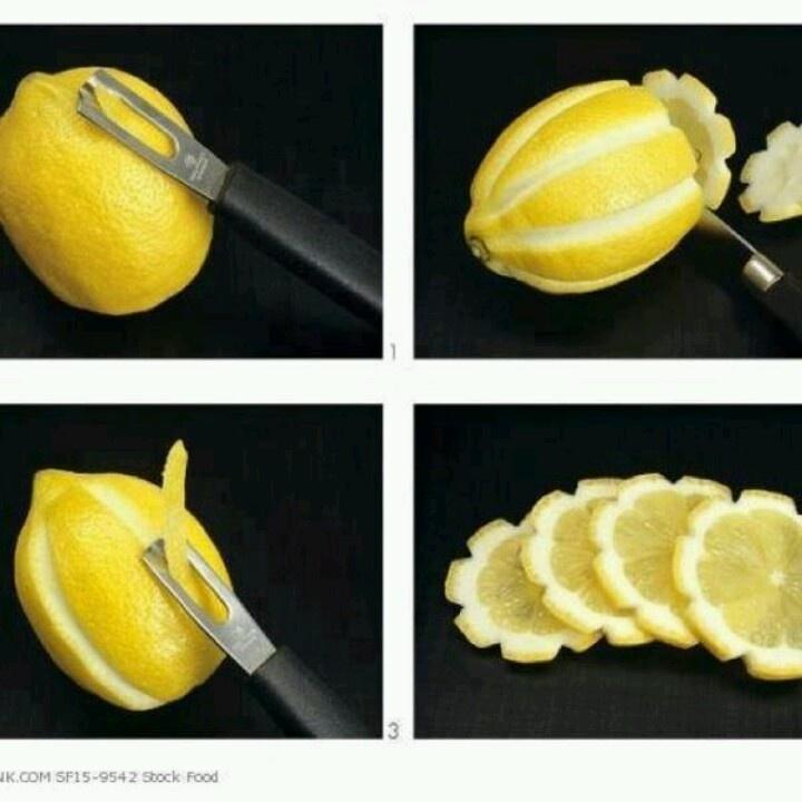 Lemon flower garnish