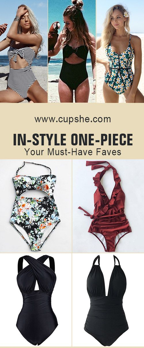Start to shine~ These flattery swimwears are chic must-have of the year! Your perfect option for beach vacation! Listen! The sea is calling! Get our fantastic one-pieces ready with you at Cupshe.com ! FREE shipping~