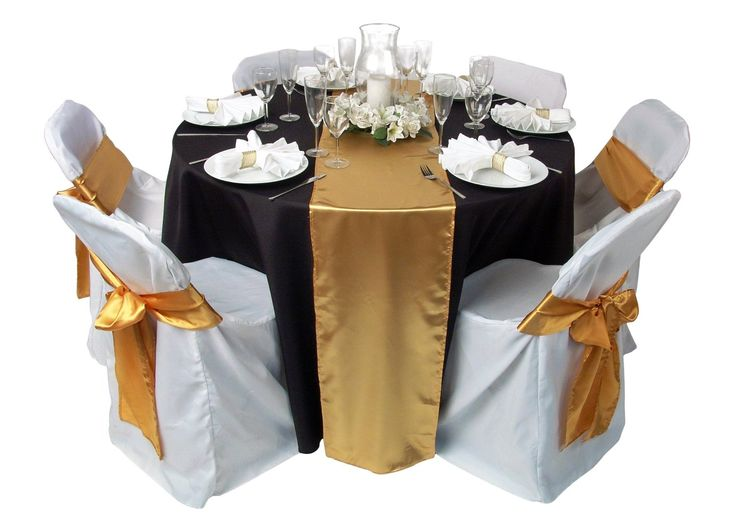 Bridal White Folding Chair Covers With Gold Ribbon U2013 Home Inspiring