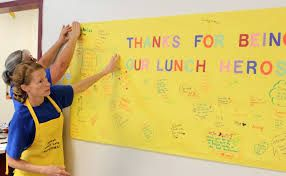 Today we celebrate #SchoolLunchHeroDay!  Be sure to thank the hard workers in your cafeteria.  #SchoolLunch