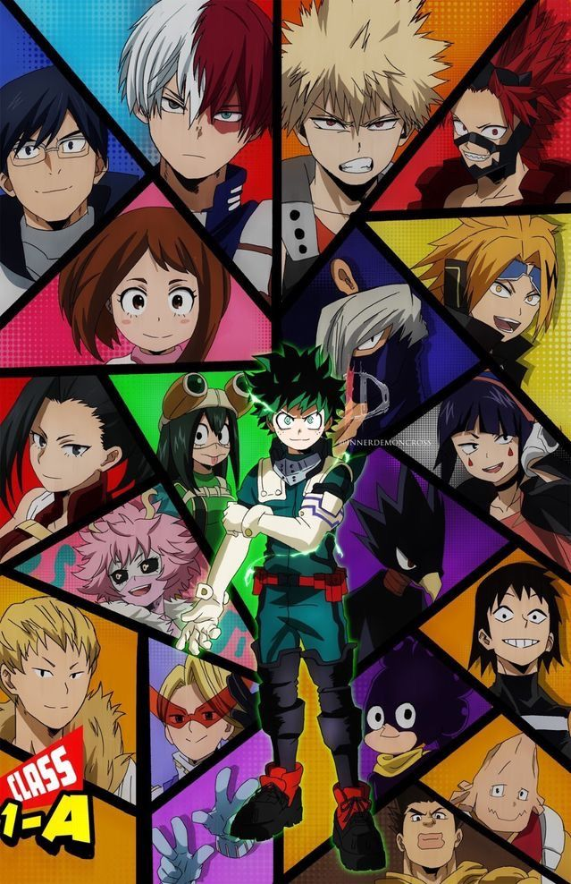 Class 1a In 2020 Hero Poster Anime Wallpaper Iphone My Hero Academia Episodes