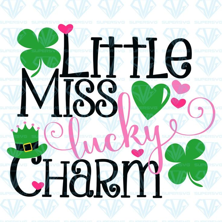 Download St Patricks Day, Little Miss Lucky Charm SVG Files For ...