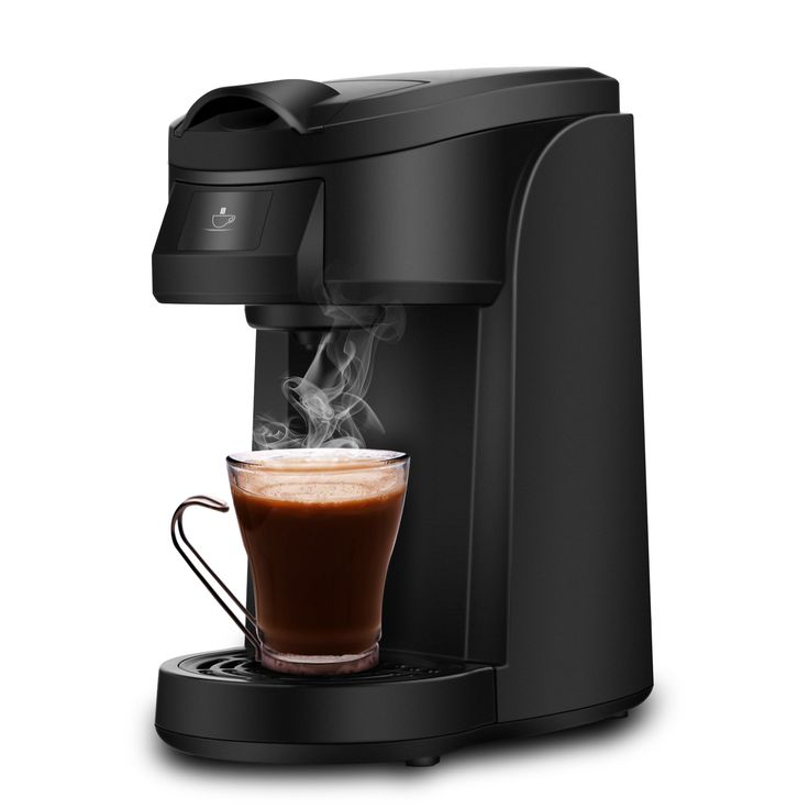 Single Serve Coffee Maker, LDesign One Touch Operation Coffee Machine for Most single cup pods, Quick Brew Technology Travel One Cup Coffee Brewer