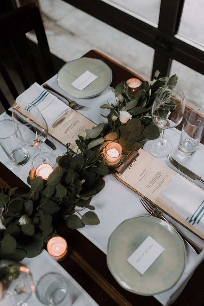 Modern Chic Nyc Wedding At Public Restaurant Restaurant Table