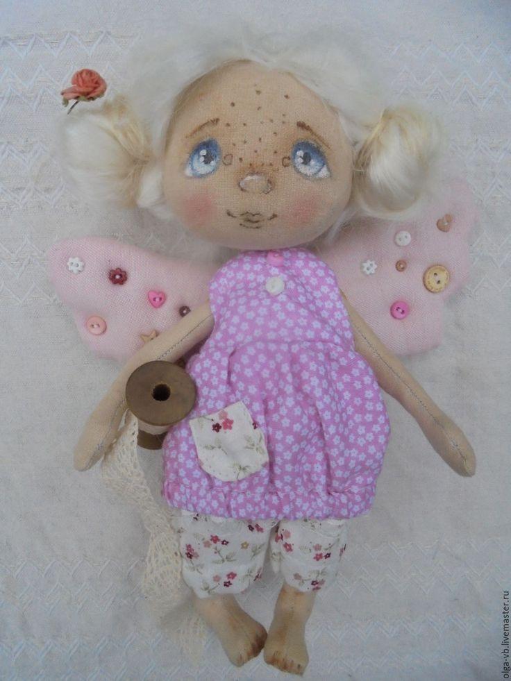 Купить Швейный ангел - розовый, ангелочек, текстильная кукла, текстильный ангел, швейные принадлежности, швея