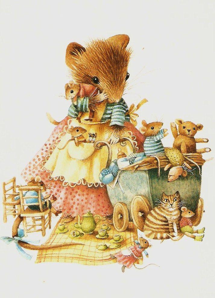 Сделать, винтажные открытки мышки