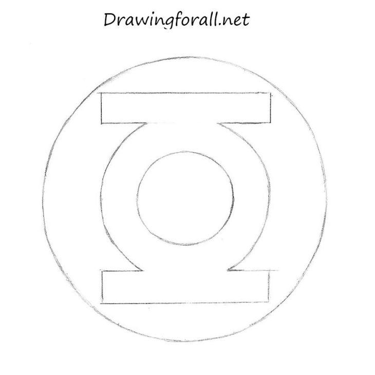 How To Draw Green Lantern Logo Green Lantern Logo Green Lantern