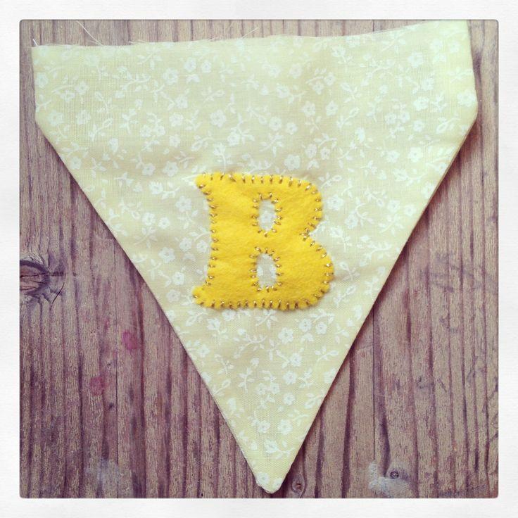 Yellow Gold B Personalised Vintage Wedding Bunting Visit