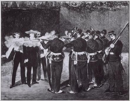 L'Exécution de Maximilien, 19 juin 1867 Manet Edouard (1832-1883)