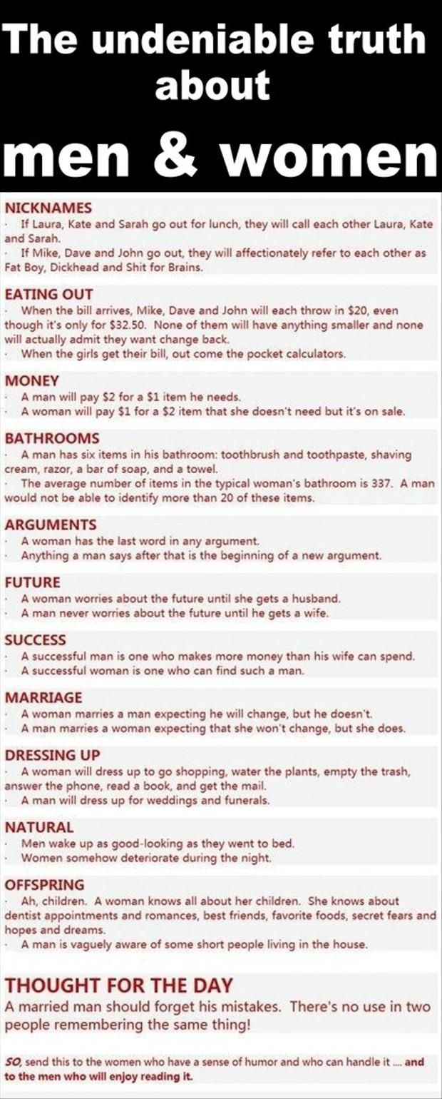 The 'truth' about men and women