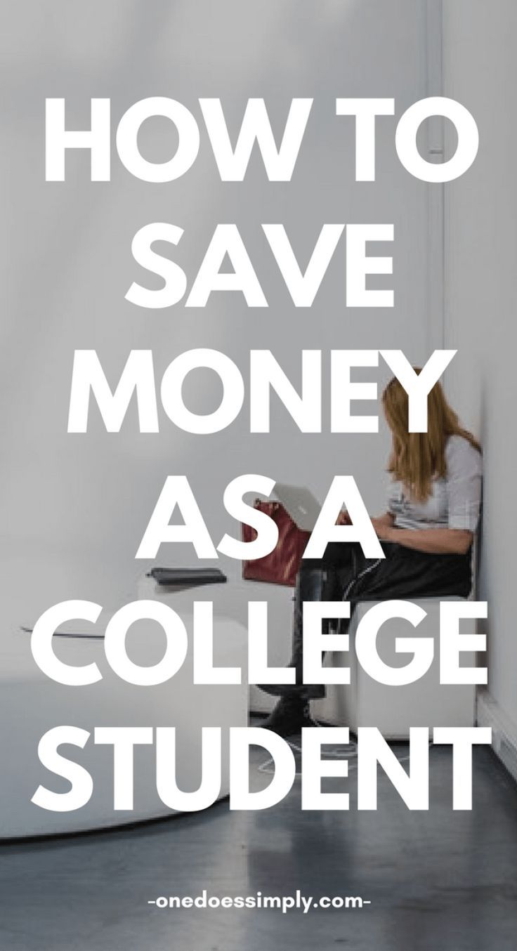 How To Save Money Fast For College Students