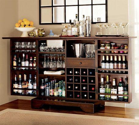 American Classics Furniture CollectionDining Room, S'Mores Bar, Basements Bar, Home Bar, Wine Bar, Bar Area, Liquor Cabinet, Bar Cabinets, Pottery Barns