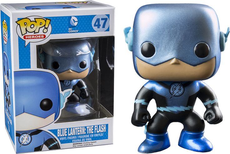 Funko POP! Heroes DC Comics Metallic Blue Lantern 47 Underground Toys RARE!! #funko #funkoop #flash #bluelantern #2stime