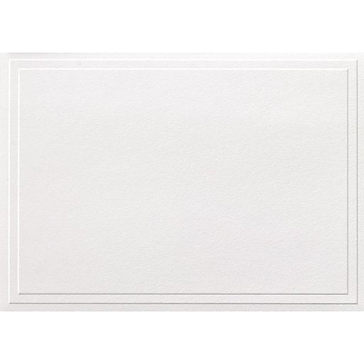 Great Papers® Triple Embossed White Note Cards, 50/Pack