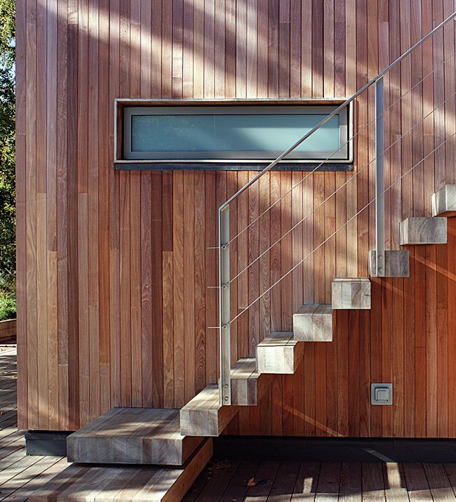make a statement with hardwood cladding such as this ethically sourced brazilian ipe - External Cladding For Houses