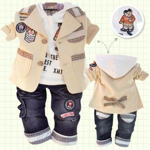 Children's clothing set autumn winter cotton coat + T-shirt / Sweater + pants / trouser suit baby boy kids clothes Free shiping   UNUM CLICK - Online Shopping for Electronics, Fashion, Home & Garden, Toys & Sports, Health & Beauty and more