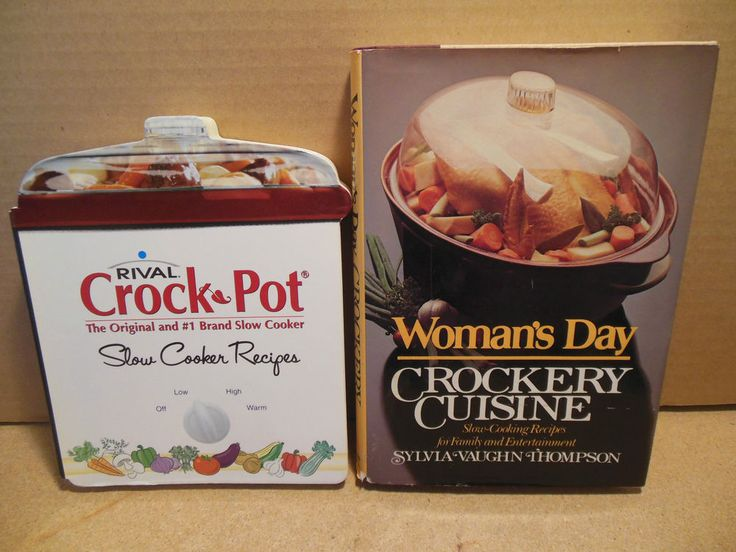 LOT Rival Crockpot Slow Cooker Recipes AND Womans Day Crockery Cuisine Crock Pot