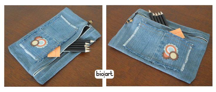 Cartuchera  de jeans