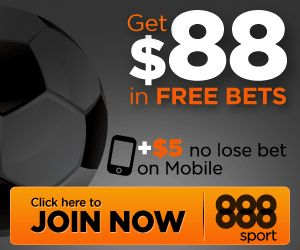 #SportsBettingandPoker 888 (which includes 888sport, 888casino, 888poker) bonus exclusive from OddsAndPots. Register today and get a free cash bonus.  Click Here to know more: http://www.oddsandpots.com/promotions/888sport/