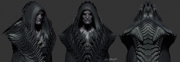 Apocalypse priest costume concept for Justice League done for costume designer Michael Wilkinson. You can see these guys briefly in the film and I was excited to catch a glimpse of them in the flash back sequence.
