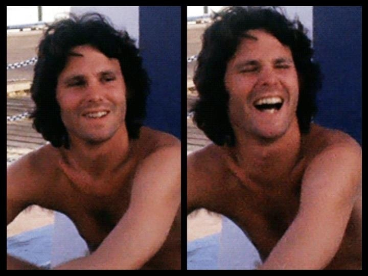 Jim Morrison, 1967; looked like a different person when he smiled