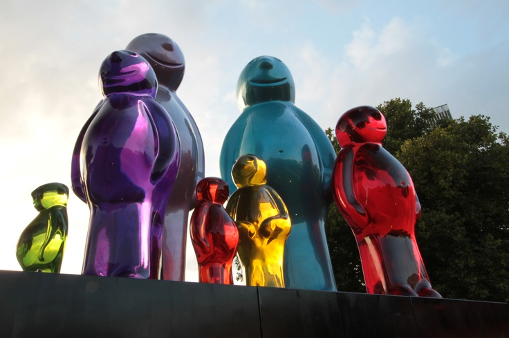 The Jelly Baby family, Marble Arch, London