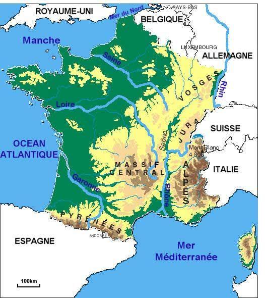 Carte des fleuves de France | Fleuve de france, France, Fleuve