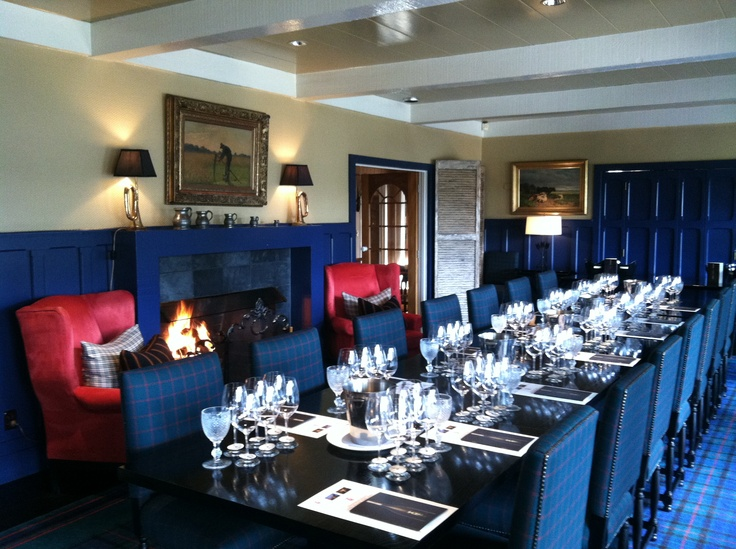 Dinner table for the Church Road Wine event at Huka Lodge.