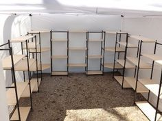 portable display shelves for arts and craft fairs and shows