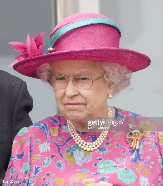 The Queen At Epsom Derby Day - Surrey