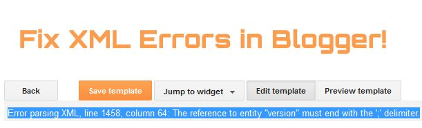"""How To Fix XML Parsing Errors In Blogger and Wordpress?   Most often when you insert a Facebook JavaScript or AdSense JavaScript in your blogger template editor you often come across XML Parsing errors that prompts and says """"The reference to entity """"version"""" must end with the ';' delimiter."""" Blogger blogs are coded in XHTML and XML is quite strict in following correct syntax formatting than HTML. XML is surely unforgiving in this case. Blogger interprets all your document as XML rather than…"""