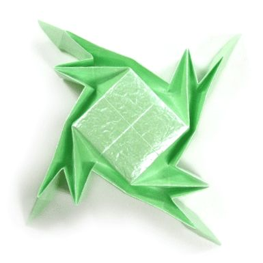 How to make a simple tessellation of origami frog (http://www.origami-make.org/origami-frog-tessellation-simple.php)