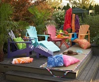 Colorful chairs!