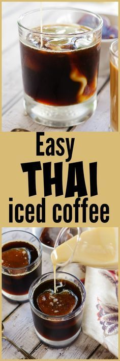 Easy Thai Iced Coffee | www.homeandplate.com | Become your own barista with this easy Thai iced coffee recipe.