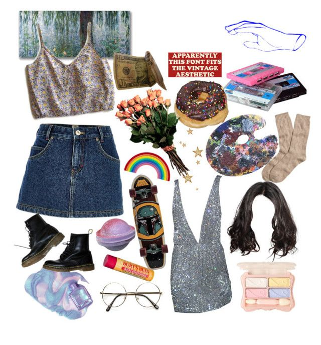 """""""Untitled #125"""" by sunsetsandflowers on Polyvore featuring Trademark Fine Art, River Island, CASSETTE, Burt's Bees, Brooks Brothers and Dr. Martens"""