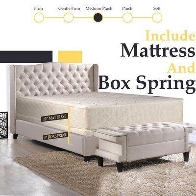 White Noise Orthopedic 10 Medium Innerspring Mattress Mattress Platform Bed Frame Mattress Springs
