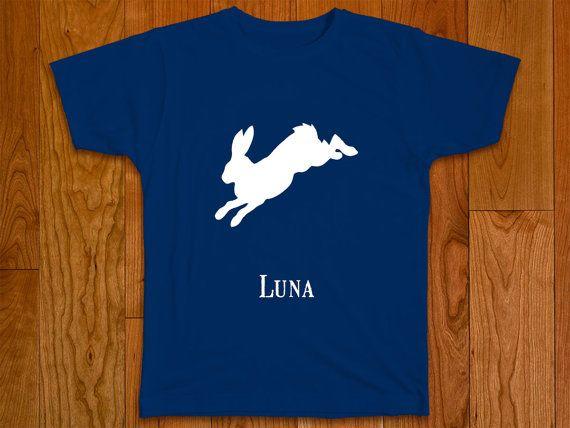 T-shirt with the Patronus of Luna Lovegood, a hare. The Patronus charm conjures…