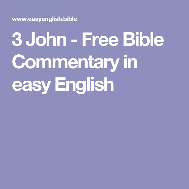 3 John - Free Bible Commentary in easy English