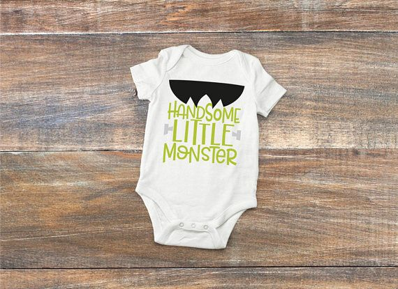 Handsome Little Monster Baby Bodysuit Halloween Frankenstein