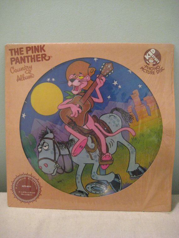 Vintage Pink Panther Country Album Picture Disk Record for sale on Etsy.