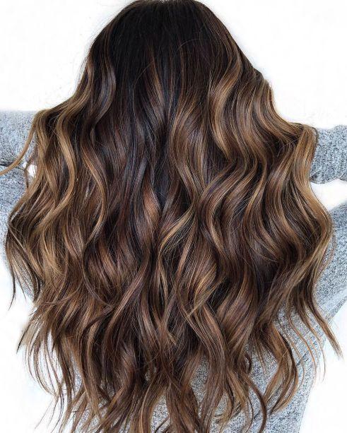 Brown Balayage für schwarzes Haar  #balayage #bro… – #balayage #bro #brown #f…