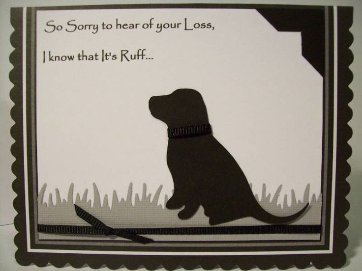Pet Sympathy Card !!! by mamawcindy - Cards and Paper Crafts at Splitcoaststampers