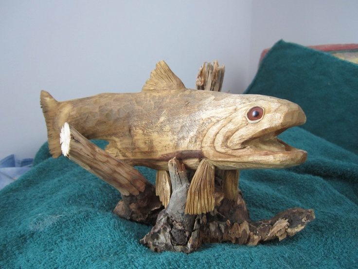 32 best images about fish carvings on pinterest teak for Fish wood carving