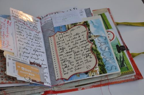 """cut pages and reattach different shaped pages...this looks like what they now call a """"Smash Book"""" used to be called a scrap book...but now scrapbooks are a whole different beast....which is why the name """"Smash Book"""" is now what """"They"""" call them....(who are """"They"""" anyway?)  ;o)"""