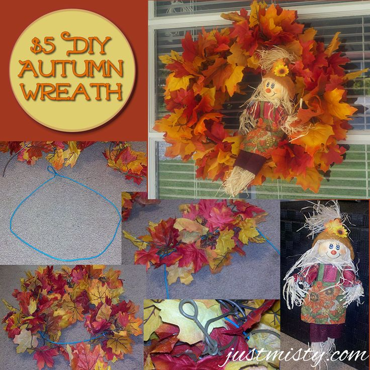 DIY $5 Fall Autumn Wreath- I think I could handle this one!
