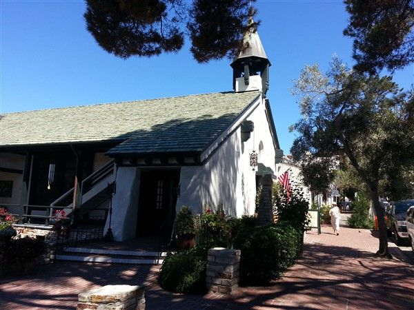 Church of the Wayfarer was founded in 1904.  It is located at the geographic center of Carmel by the Sea.  Come ring the church bell!