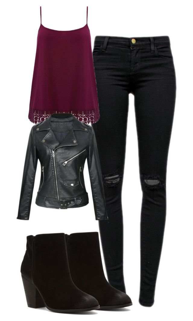 """""""Katherine Pierce Inspired Outfit"""" by mytvdstyle ❤ liked on Polyvore featuring J Brand, M&Co, Report, Inspired, tvd, thevampirediaries and plus size clothing"""