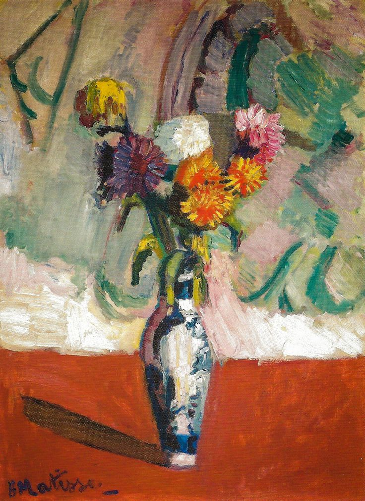 Henri Matisse - Chrysanthemums in a Chinese Vase, 1902 at San Francisco Museum of Modern Art - viewed at the Legion of Honor (by mbell1975)