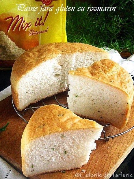 » Paine fara gluten cu rozmarinCulorile din Farfurie